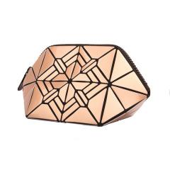 几何菱格PU化妆包 便携设计 展会活动礼品