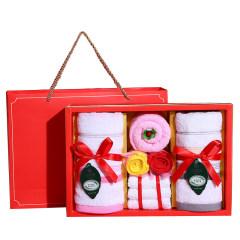 鼠年新春纯棉毛巾礼盒套装 轻奢简约时尚设计 好看又实用 房地产礼品方案