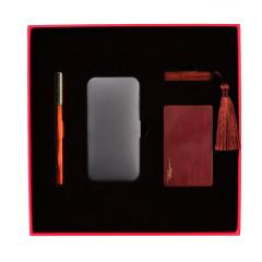 【雅行】原創設計禮盒四件套 紅木筆充電寶U盤名片盒套裝 高端商務禮品