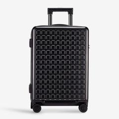 智能行李箱尤文图斯 圆角方格图形创意万向轮 20寸登机男女旅行箱包24寸指纹锁拉杆箱 旅行礼品