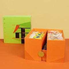 【现货空礼盒】双层旋转盒 过年 过关  书本盒 创意新年春节礼盒定制 年会答谢礼品