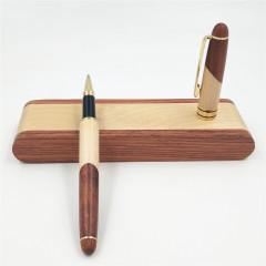 商务红木签字笔礼盒套装 拼木笔盒 适合新员工培训的奖品