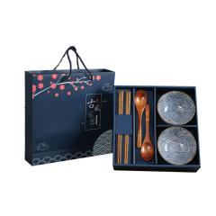 古风食器 陶瓷碗勺礼盒装 六件套 送什么礼品给客户好