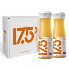 【京东伙伴计划—仅限积分兑换】农夫山泉 17.5°鲜橙汁NFC鲜榨果汁礼盒装330ml*4瓶