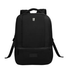 爱华仕(OIWAS)简约纯黑商务大容量双肩包 专业电脑隔层电脑包 实用活动奖品