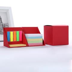 创意百变便利贴魔方盒 环保牛皮纸办公组合便签盒 商务广告笔记本定制