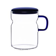 时尚简约玻璃茶杯  高硼硅玻璃耐热水杯 办公室泡茶杯