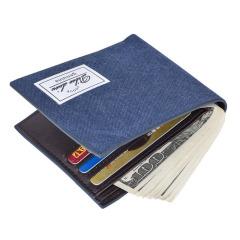 男士短款钱包时尚帆布男式学生横款钱夹超薄款  创意活动礼品