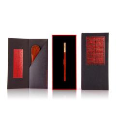 【书友】原创设计两件套礼盒 铜头实木笔+真皮笔套  高端商务礼品
