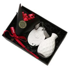 艺术波浪瓶+石膏天使挂牌+永生花无火香薰礼盒套装 年轻人喜欢的礼品
