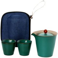 便捷旅行快客茶具套裝 一壺二杯功夫茶具 商務禮品送什么合適