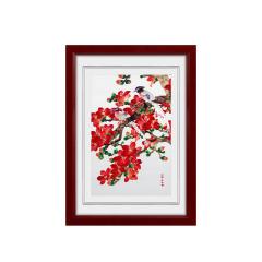 【廣繡紅紅火火】手工刺繡 桌面特色擺件 旅游紀念禮品