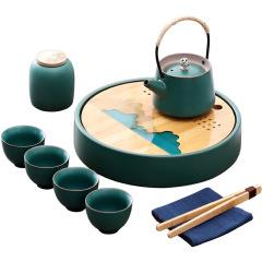 【观山阅水】复古简约功夫茶具礼盒 旅行茶具 送职员的礼品,什么比较合适
