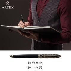 ARTEX雅特仕钢琴键钢笔正品高端金属简约签字笔时尚百搭商务办公升学毕业男女墨水笔礼盒练字黑笔免费刻字