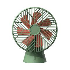 sothing 雨林桌面风扇 7羽扇叶 可充电式办公家用小风扇 有设计感的礼品