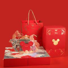 Disney迪士尼 奇耀新春贺年礼盒 鸡蛋卷+椰丝凤凰卷+凤梨等 年会创意礼品