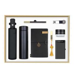 商务礼盒八件套 保温杯+雨伞+笔记本+签字笔+16GU盘+充电宝+音响+钥匙扣 客户答谢会礼品