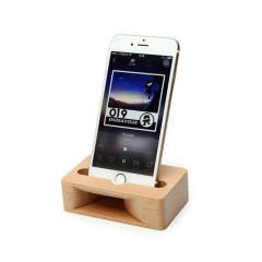 原木櫸木手機座 木質手機支架擴音器 創意辦公室桌面懶人手機架 企業禮品 會議小禮品
