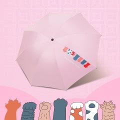 创意卡通常规款太阳伞黑胶遮阳伞 防晒防紫外线雨伞