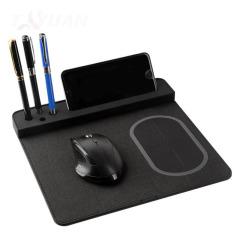 多功能創意無線充電鼠標墊帶usb充電器     適合送給員工的禮物