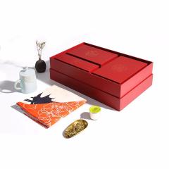 【丝路三绝】佳人装真丝长巾+晴鹤瓷杯+西湖龙井  创意商务礼品