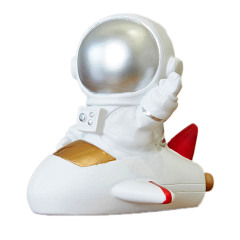 宇航員坐飛船 太空人桌面擺件 員工入職紀念禮品
