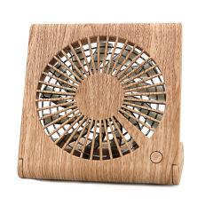 木纹笔记本折叠风扇 便携USB充电桌面风扇  公司女生生日礼物