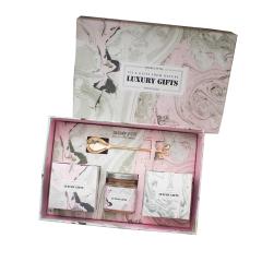 Luxury Gifts 大理石風伴手禮 INS風花茶牛軋糖蜂蜜組合套裝 活動伴手禮禮盒禮品