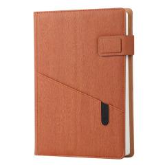 A5/B5手机插袋商务笔记本定制 创意木纹封面记事本礼品定制
