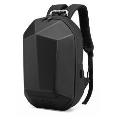 蓝牙音乐背包三角几何设计高密度无痕面料 创意防水学生书包智能usb充电旅行包 商务礼品双肩包