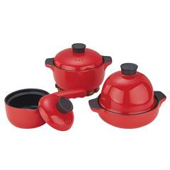 多用养生三件套奶锅塔吉锅汤锅套装  厨房用品礼品