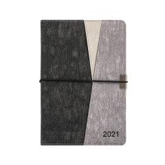 时尚撞色绑带年历本 2021年效率本册 A5计划本日程本 商务礼品