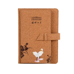 【中国国家博物馆】芙蓉双鹭软木笔记本 实用设计 活动奖品
