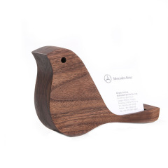 实木小鸟名片盒 美观实用  活动奖品
