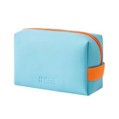 时尚撞色防水PU收纳包 大容量手提化妆包 便携洗漱包 展会礼品定制