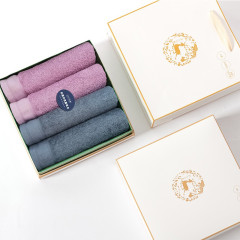 竹印象 光源力四件套麋鹿大礼盒 抗菌毛巾礼盒套装 周年庆纪念品