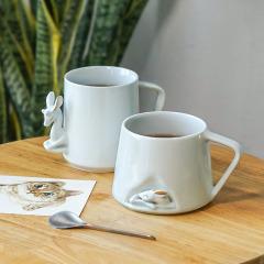 【金鹿隐杯】飞形物手工描金陶瓷杯 redot红点获奖设计师款 中秋节礼品送客户