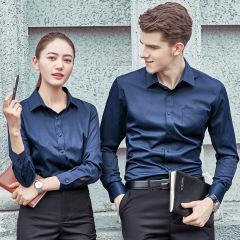 男女同款职业装长袖衬衫 公司定制工作服 可定制logo