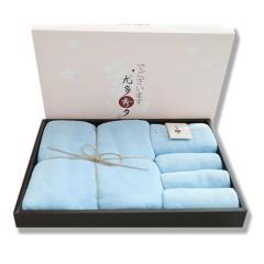 日本YODO XIUI尤多秀夕 礼盒装珊瑚绒毛巾浴巾3件套 年会的纪念奖品发什么好呢