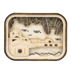 【苏州博物馆】卧室充电式木质小夜灯 伴睡小夜灯 创意文创