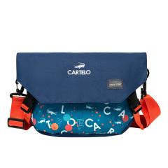 卡帝乐鳄鱼(CARTELO)悦灵清新撞色小挎包 优质面料分区收纳斜挎包 搞活动买什么奖品好