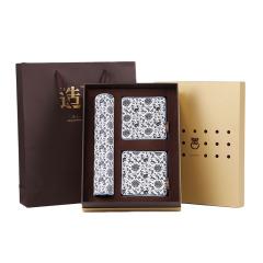 【青花缠枝莲】文化礼品套装 真丝鼠标垫+真丝杯垫(2个)三件套 创意中国文化礼品