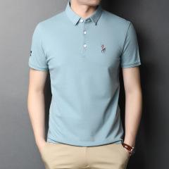 2021夏季丝光棉短袖Polo衫 会议礼品 企业活动文化衫定制