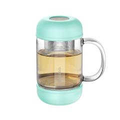 ONE2GO  茶水分离玻璃泡茶杯办公室花茶耐热水杯 公司一周年庆礼品送什么
