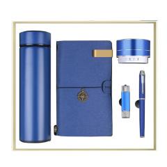 商务伴手礼 保温杯+笔记本+音箱+签字笔+U盘礼盒套装 公司周年庆礼品