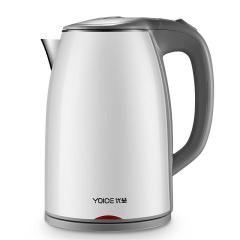 优益(Yoice)双层防烫304不锈钢快煮电热水壶 定做广告小礼品