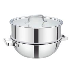 实用蒸煮两用锅 小巧设计 员工福利