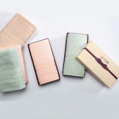 竹印象 大糖果毛巾单条礼盒 紫色蝴蝶结小软盒