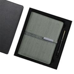 中国风时尚竖纹笔记本礼盒 A5商务记事本+签字笔套装 商务礼盒定制
