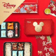 Disney迪士尼 奇乐满堂贺年礼盒 鱼皮花生+坚果脆+原味腰果等 过年一般送什么礼品比较好